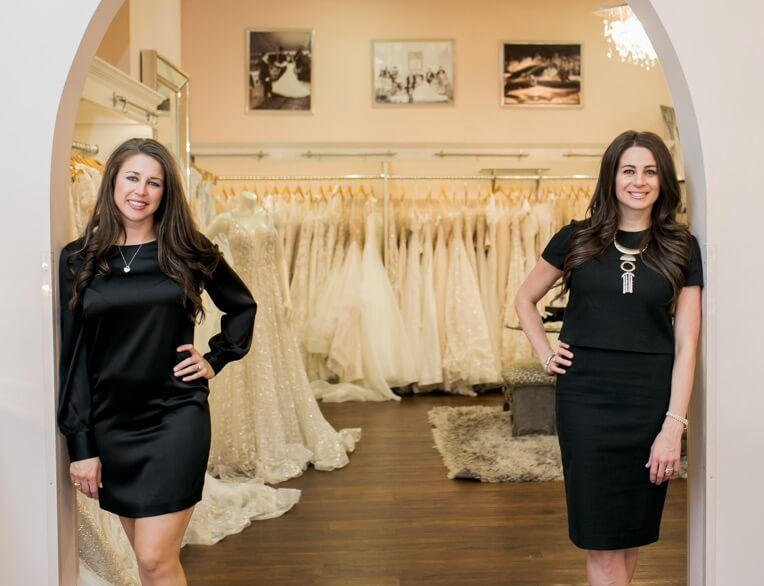 Carrie and Amy at Bridal Boutique 2019.